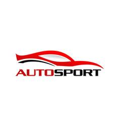 autosport logo vector image
