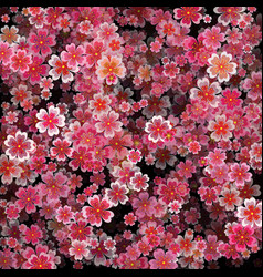 Beautiful print with blossoming dark and light vector