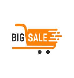big sale label logo design template vector image