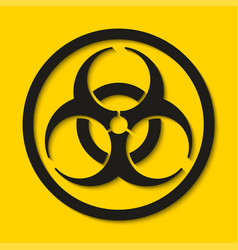 biohazard dangerous sign isolated on yellow vector image
