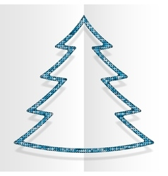 Blue Sequins Christmas Tree Winter New Year vector