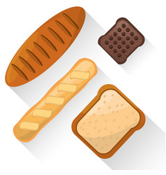 Bread food product various image vector
