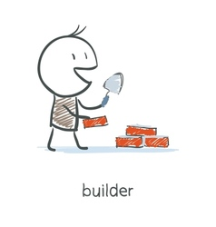 Builder Worker vector image