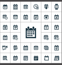 Calendar icons universal set for web and ui vector