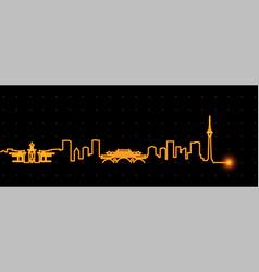 Chengdu light streak skyline vector