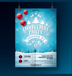 Christmas party flyer with typography vector
