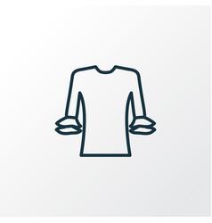 circular flounce shirt icon line symbol premium vector image