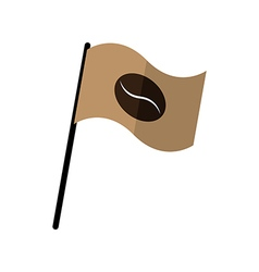 Coffee bean on fly flag vector image