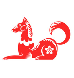 Dog chinese horoscope sign astrological symbol vector