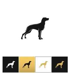 Dog silhouette black icon vector image