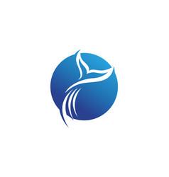 Dolphin fish logo and symbols animals vector