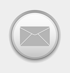 envelope or mail icon white round 3d button on vector image