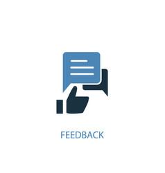 feedback concept 2 colored icon simple blue vector image