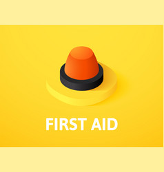 first aid isometric icon isolated on color vector image