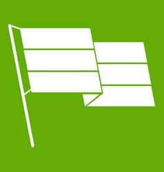 flag icon green vector image