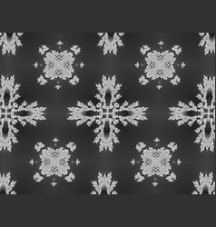 floral black and white background texture vector image