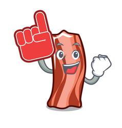 Foam finger ribs mascot cartoon style vector
