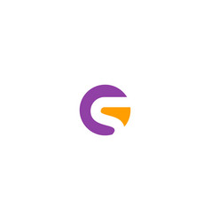 g initial company logo vector image