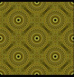 Geometrical bohemian golden mandala flower vector