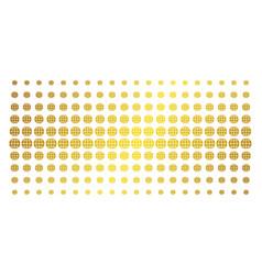 Globe golden halftone effect vector