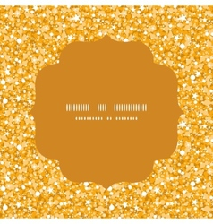 golden shiny glitter texture circle frame seamless vector image