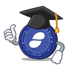 graduation status coin character cartoon vector image vector image