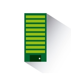 Green building icon vector