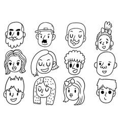 Hand drawn doodle cute funny cartoon vector