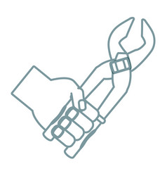 hand with plier vector image