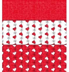 Heart shape seamless patterns vector image