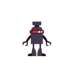 Humanoid robot flat style icon vector