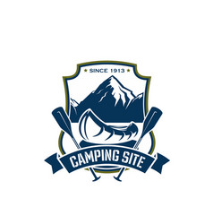 Icon for camping site sport adventure vector