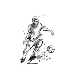 ink sketch of soccer vector image