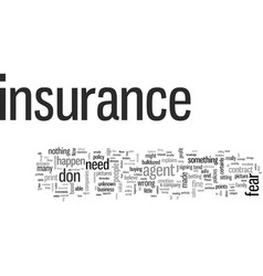 Insurance fear unknown vector