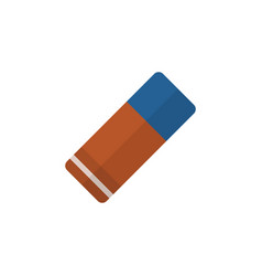 Isolated eraser flat icon rubber element vector