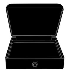 jewelry box black outline icon vector image