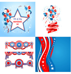 July fourth set vector