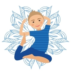 Kids Yoga Pose Child doing vector image