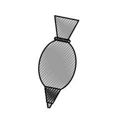 Kitchen icing bag utensil handmade vector
