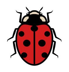 Ladybug logo symbol icon with seven black spots vector