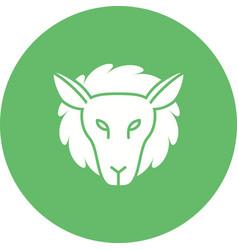 Lamb face vector