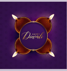 Lovely diwali festival celebration card design vector