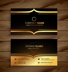 Luxury business card vector
