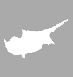 Map of cyprus vector