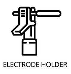Metal electrode holder icon outline style vector