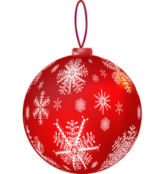 new year s red ball vector image