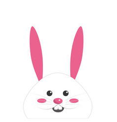 Nice face of happy rabbit animal vector