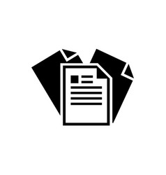 paper document flat icon vector image