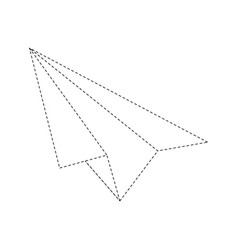 Paper plane isolated vector