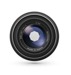 Photo lens isolated on white vector